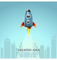Space rocket launch Creative idea business vector image