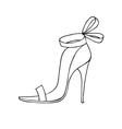 Female shoe icon vector image vector image