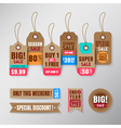 Set of retail sale tags design elements vector image