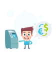 multifunctional ATM vector image