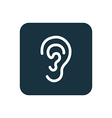 ear icon Rounded squares button vector image