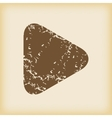 Grungy play icon vector image