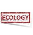 ECOLOGY outlined stamp vector image
