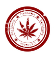 marijuana stamp vector image