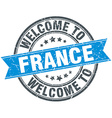 welcome to France blue round vintage stamp vector image