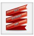 advertising sale ribbon banner vector image
