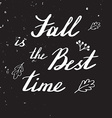 Autumn hand lettering and calligraphy design vector image
