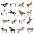 Best Horse Breeds Pictures Icons Set vector image
