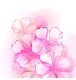 Decorative watercolor spring flower vector image