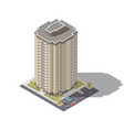 residential building with parking isometric vector image