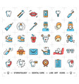stomatology icon dental care logo colorful vector image