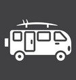 surfer van glyph icon transport and vehicle vector image