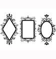 vintage frame mirror vector image