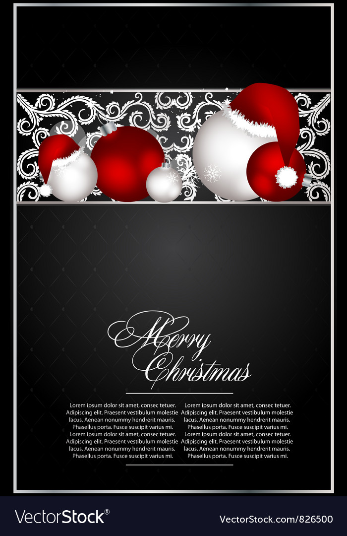 Xmas card for design vector