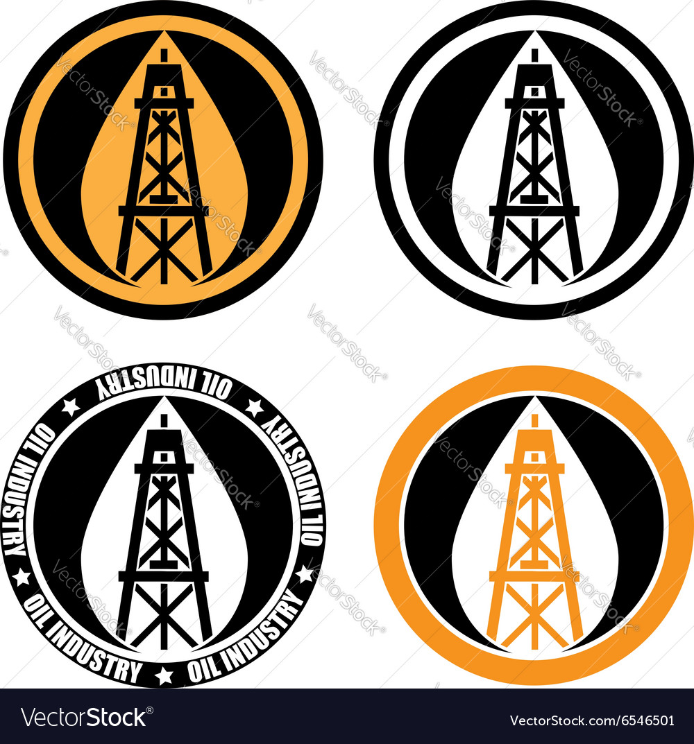 Oil derrick logo vector