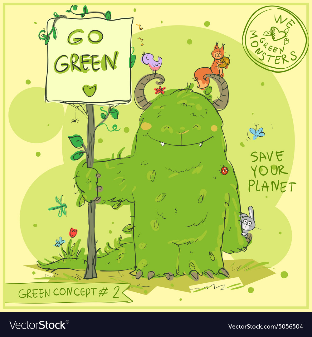 Green concept 2  hand drawn series vector