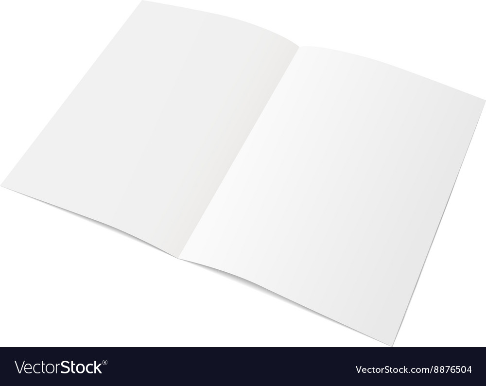 Sheet of paper folded in half vector