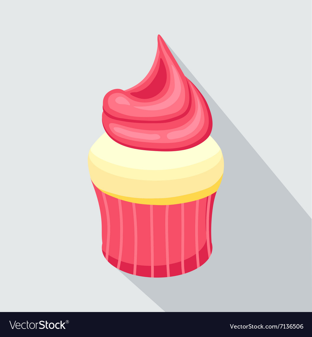 Cupcake eps 10 strawberry vector