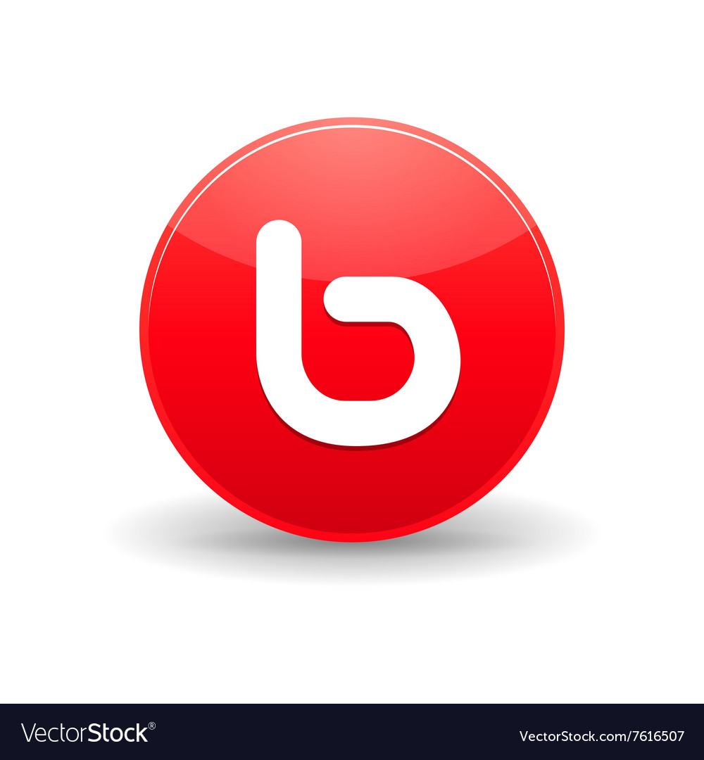 Bebo icon in simple style vector
