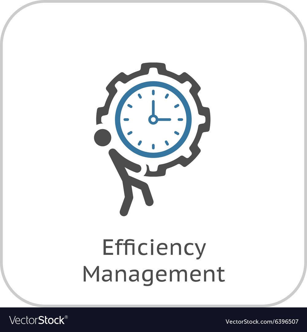 Efficiency management icon flat design vector