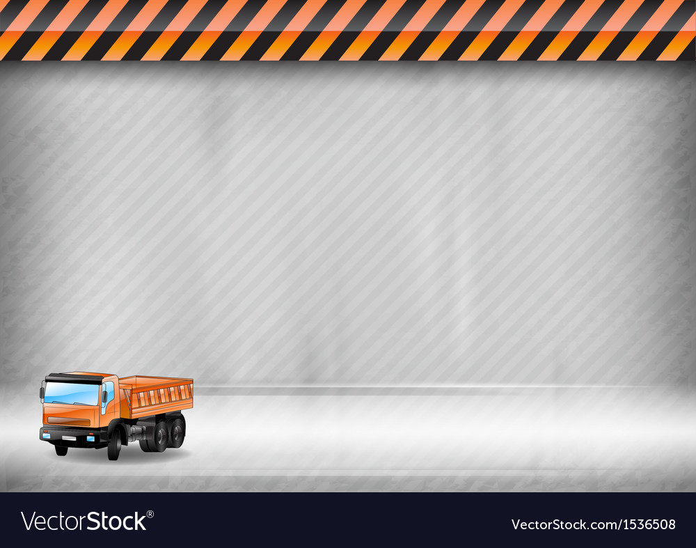 Construction background car vector