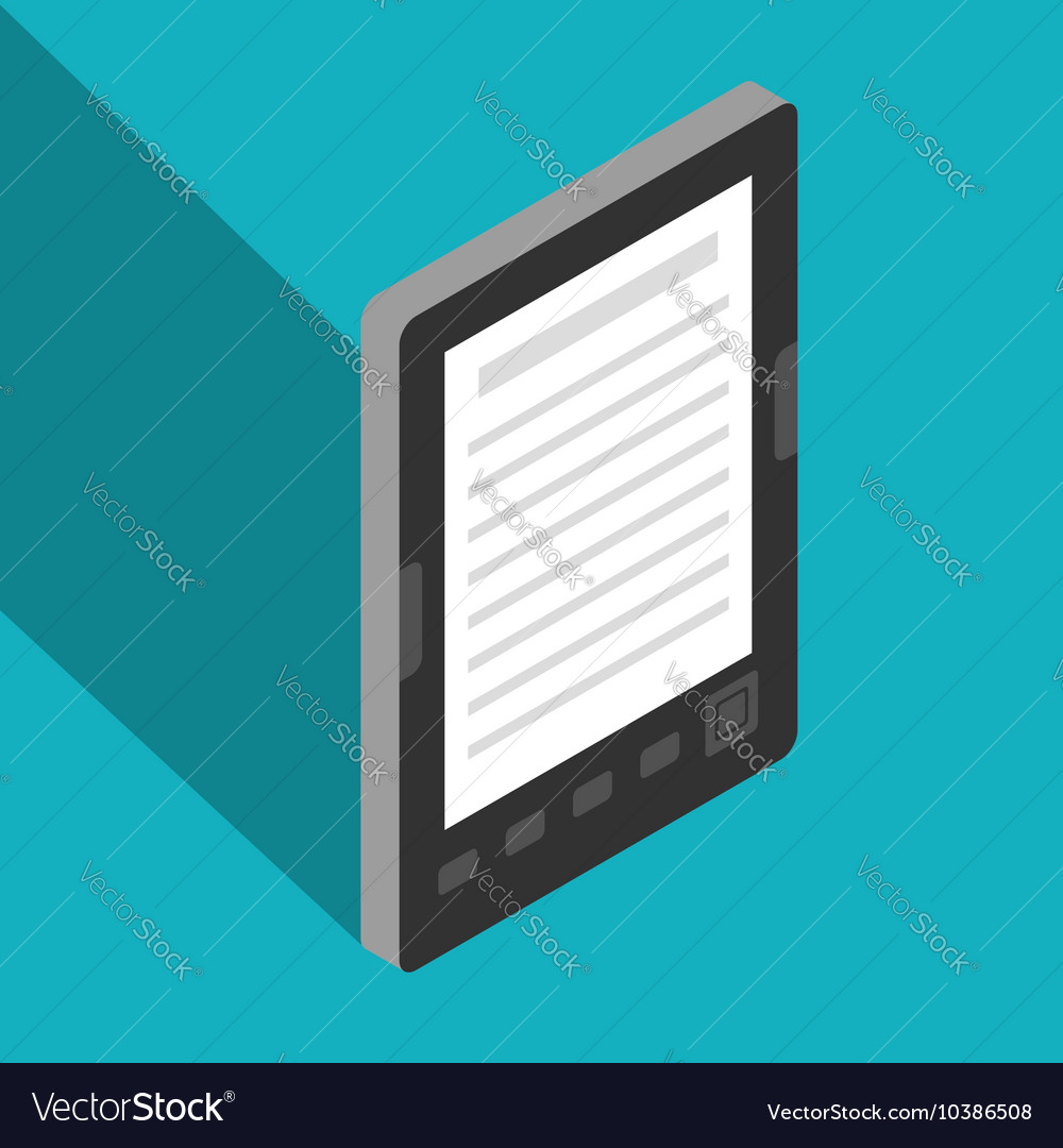 Ebook isometric vector