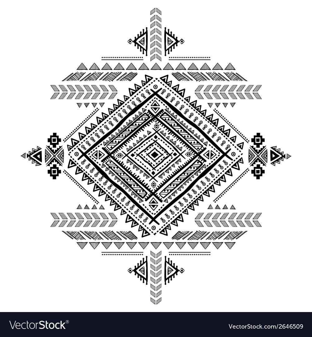 Tribal vintage ethnic background vector