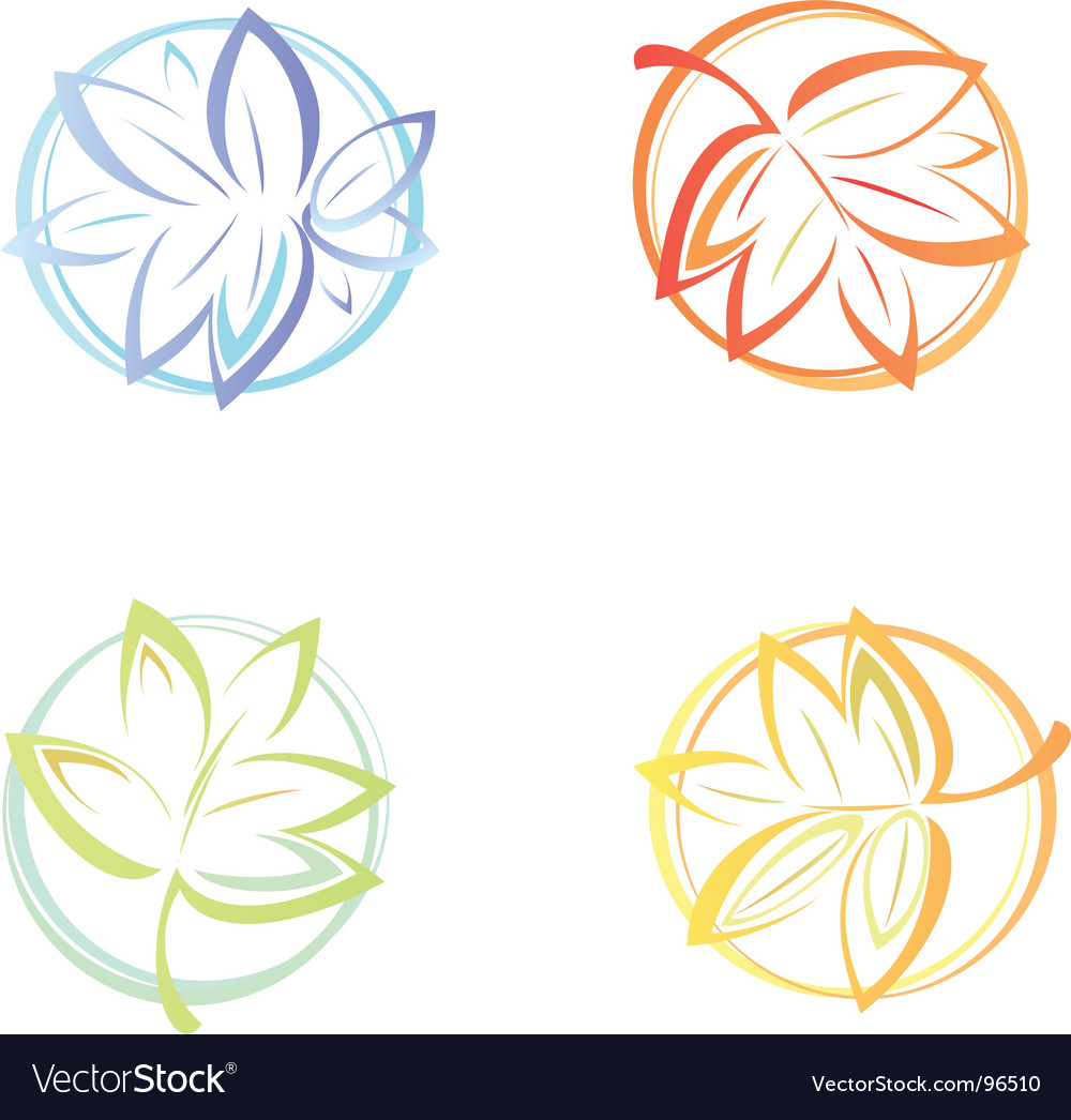 Winter spring summer autumn vector