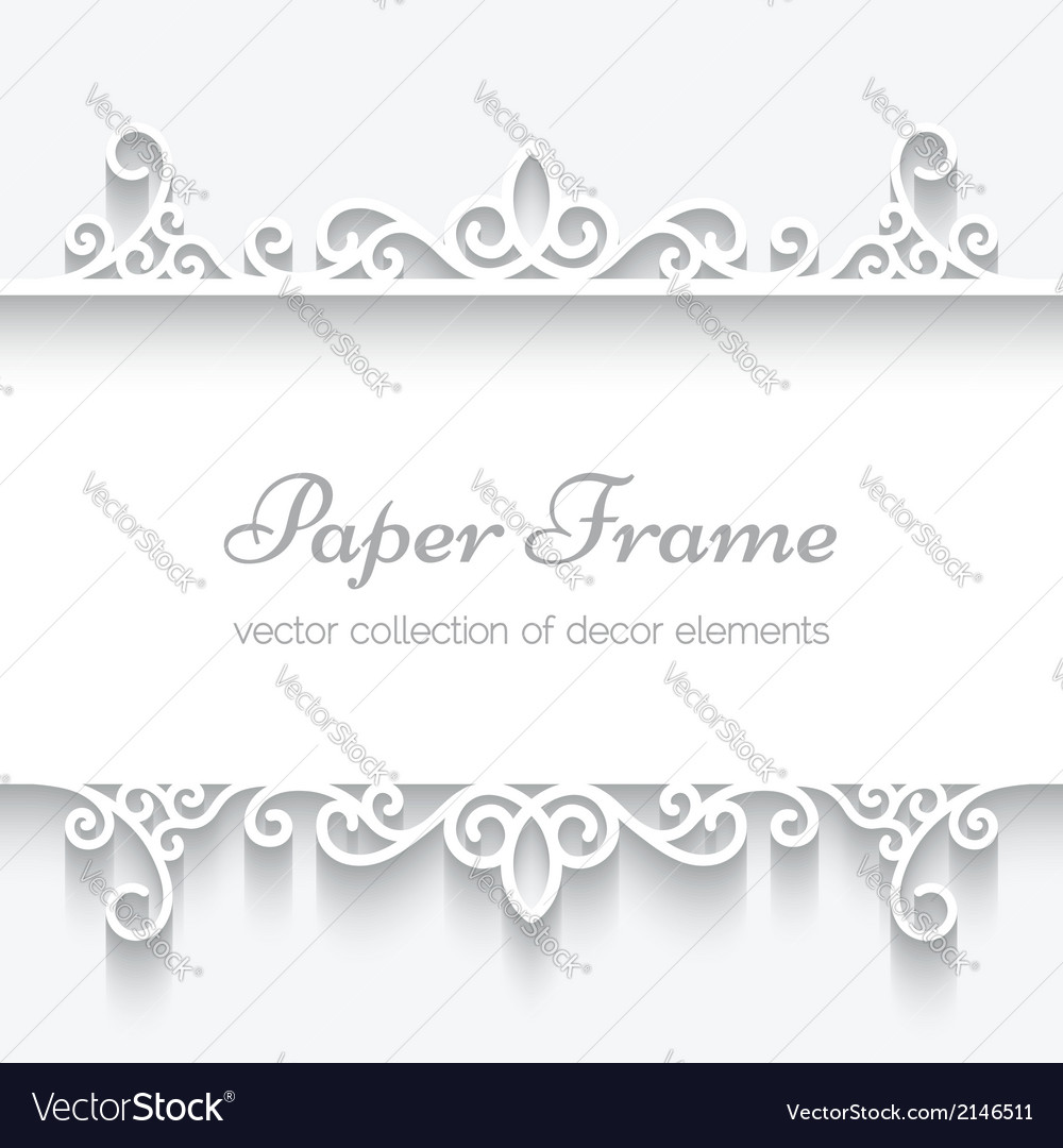Cutout paper frame vector
