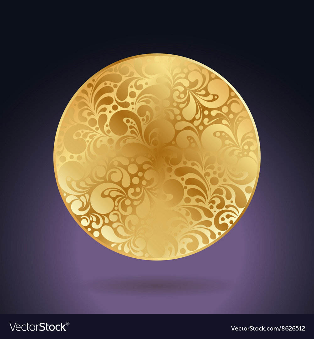 Golden curves circle vector