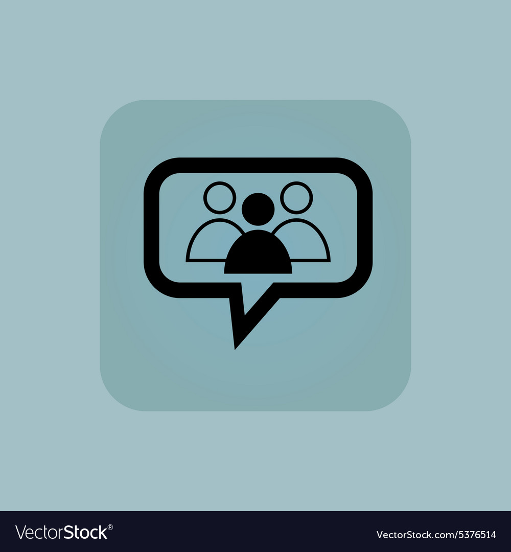 Pale blue group leader message vector