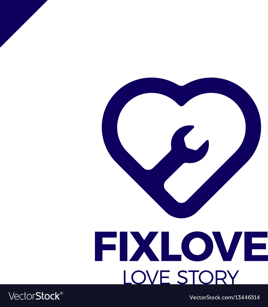 Repair love logo design element vector