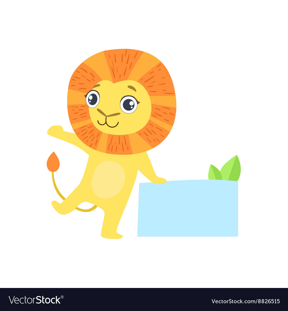 Lion with the template for the message vector