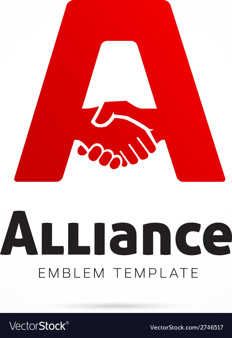 Alliance concept symbol icon or logo template vector