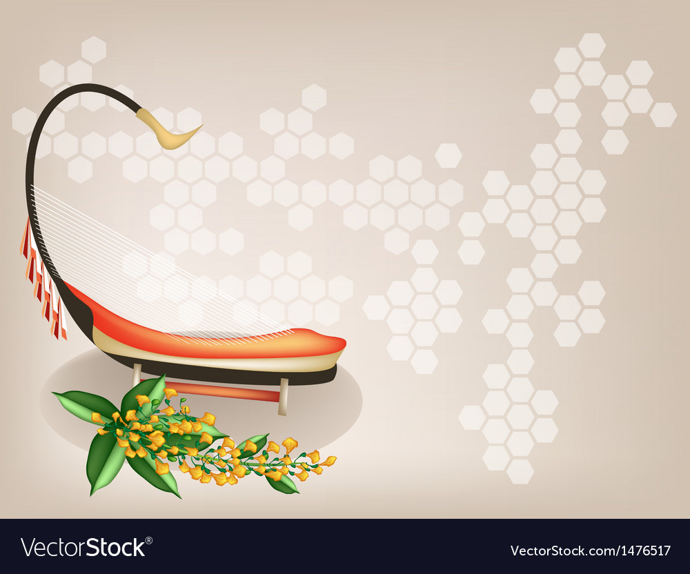 Saung padauk flower background vector
