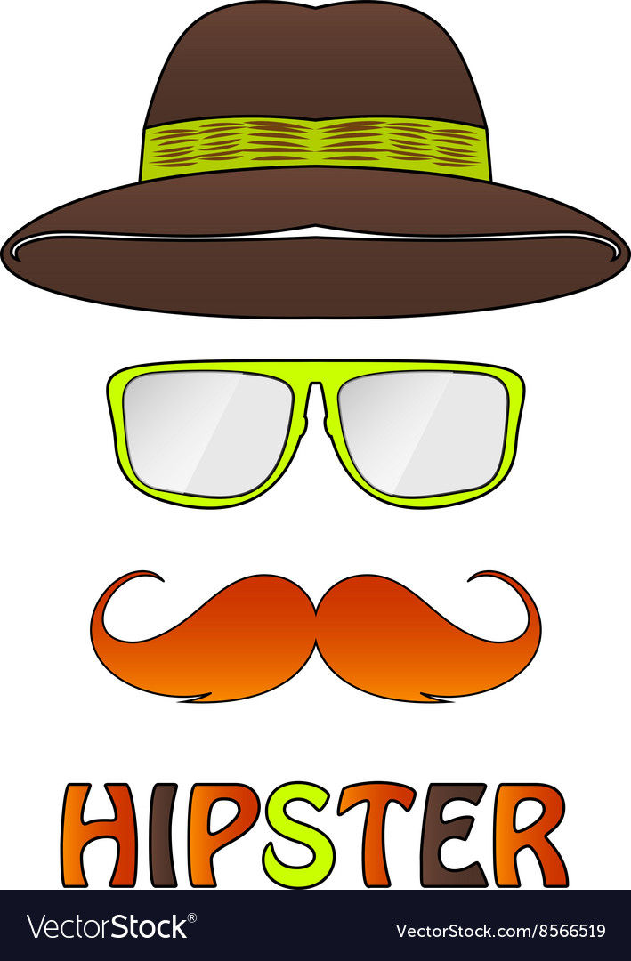 Different hipster style vector