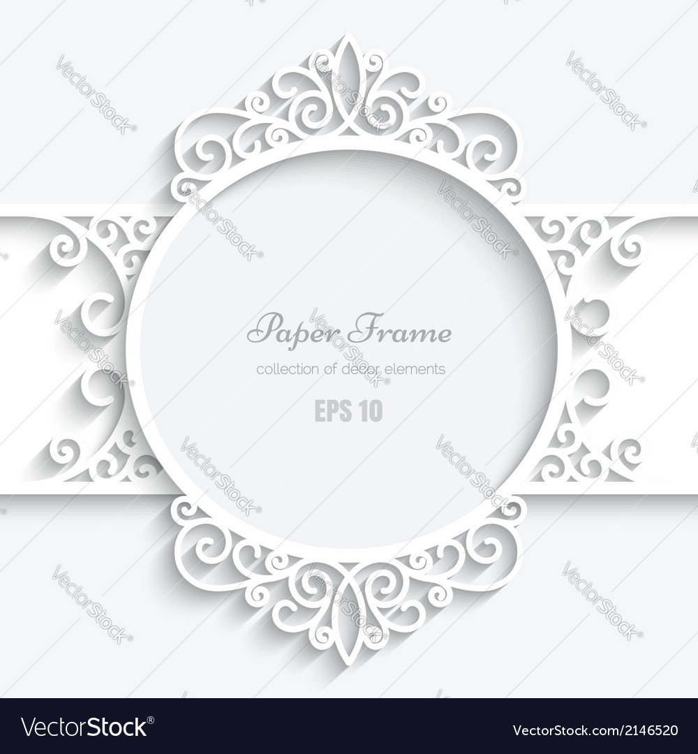 Swirly paper label vector