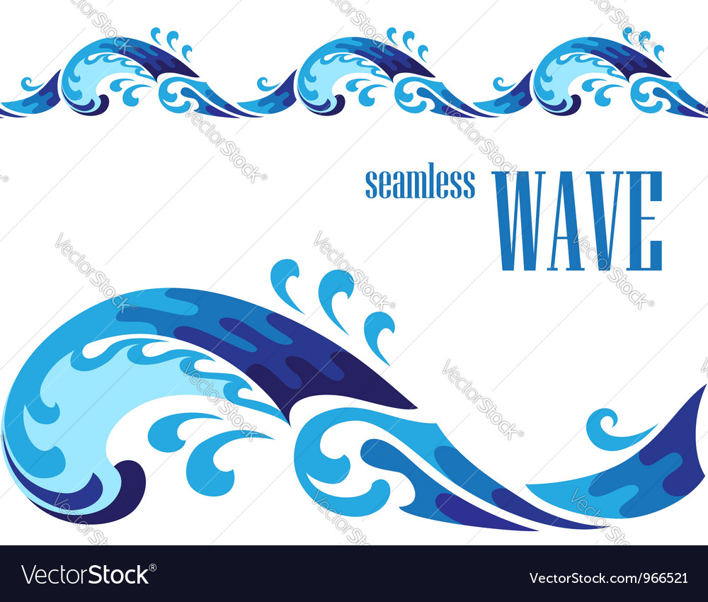 Decorative wave vector