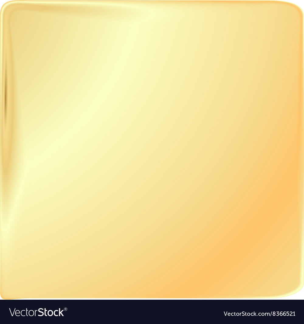 Empty golden square template for banners or signs vector