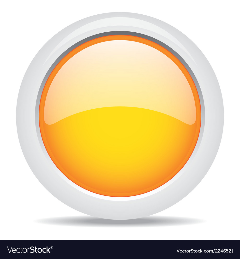 Popular orange color web button 3d vector