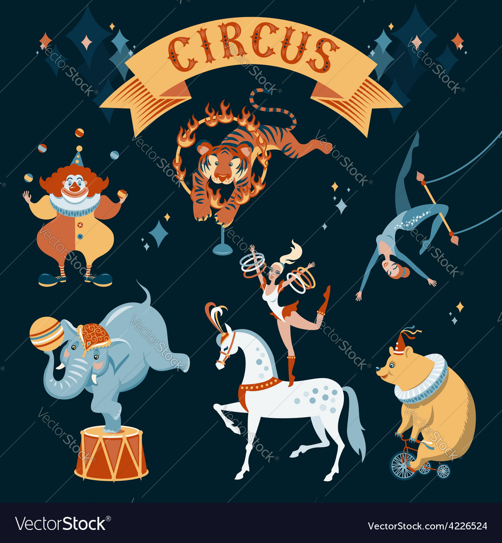 Circus characters vector