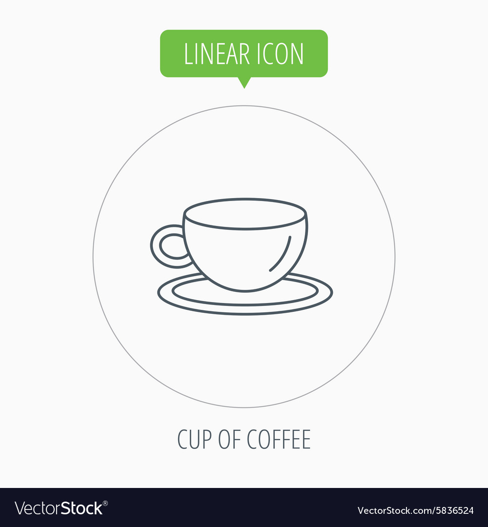 Coffee cup icon tea or hot drink sign vector