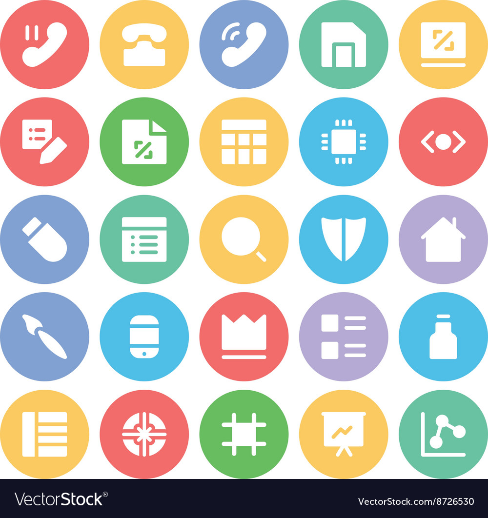 Design and development icons 6 vector