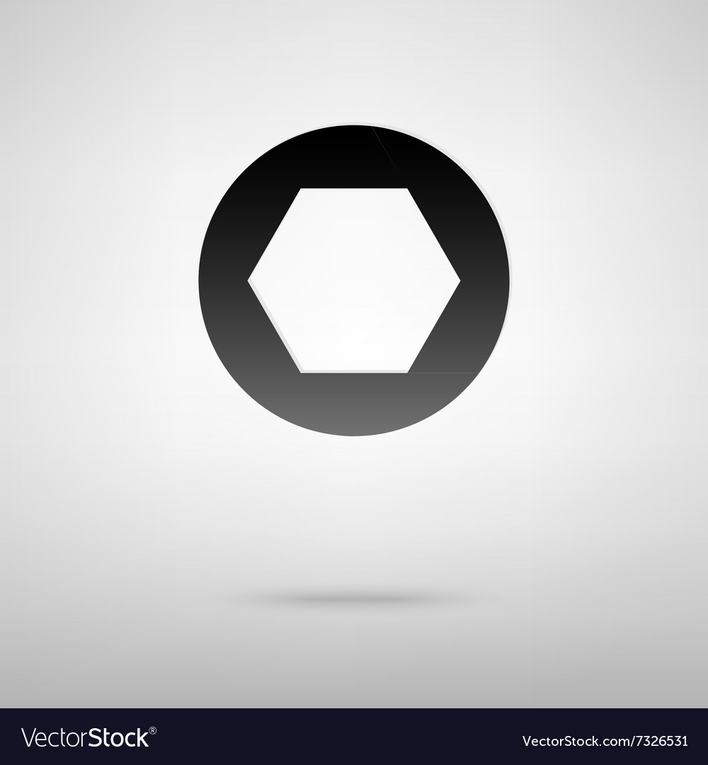 Photo objective black icon vector