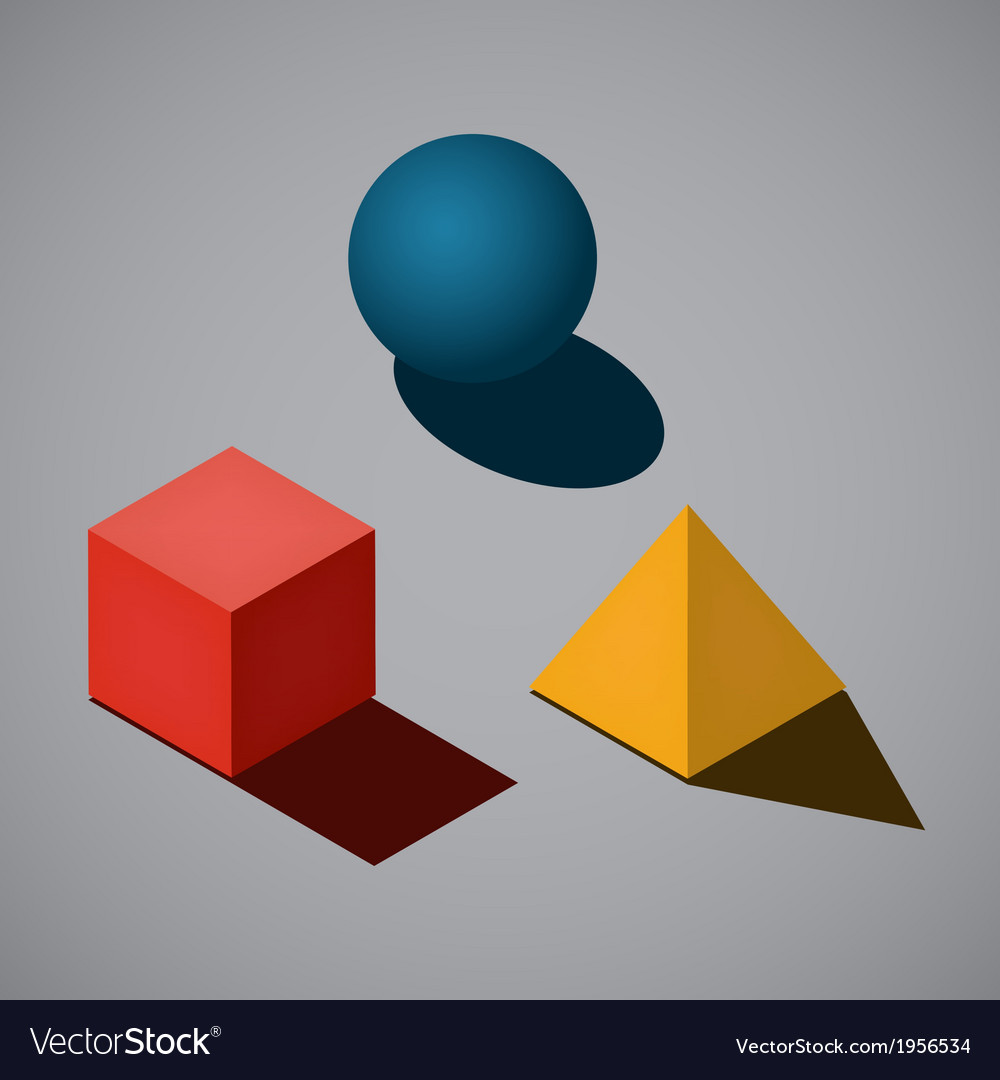 Simple geometrical shapes vector