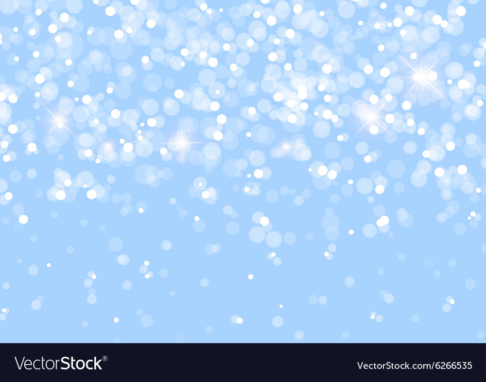 Abstract lights on blue background vector