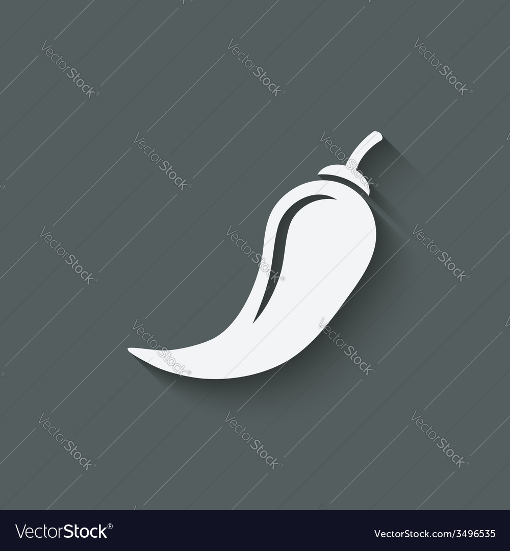 Chili pepper symbol vector