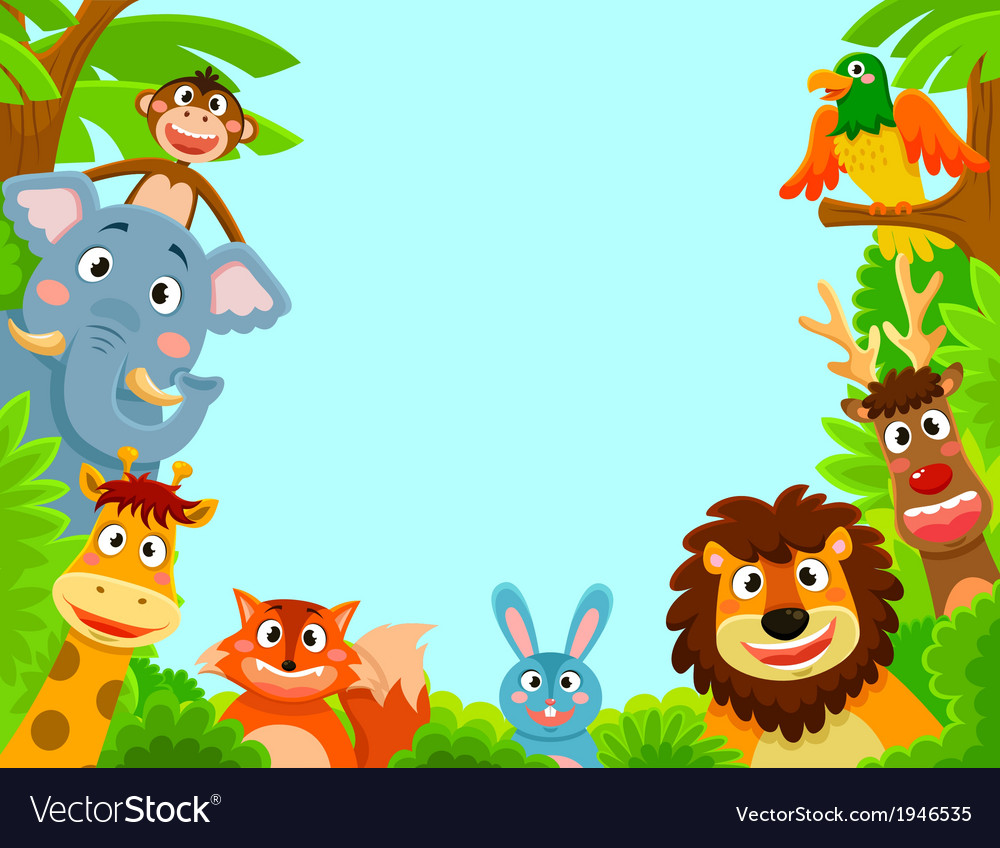 Happy animals vector
