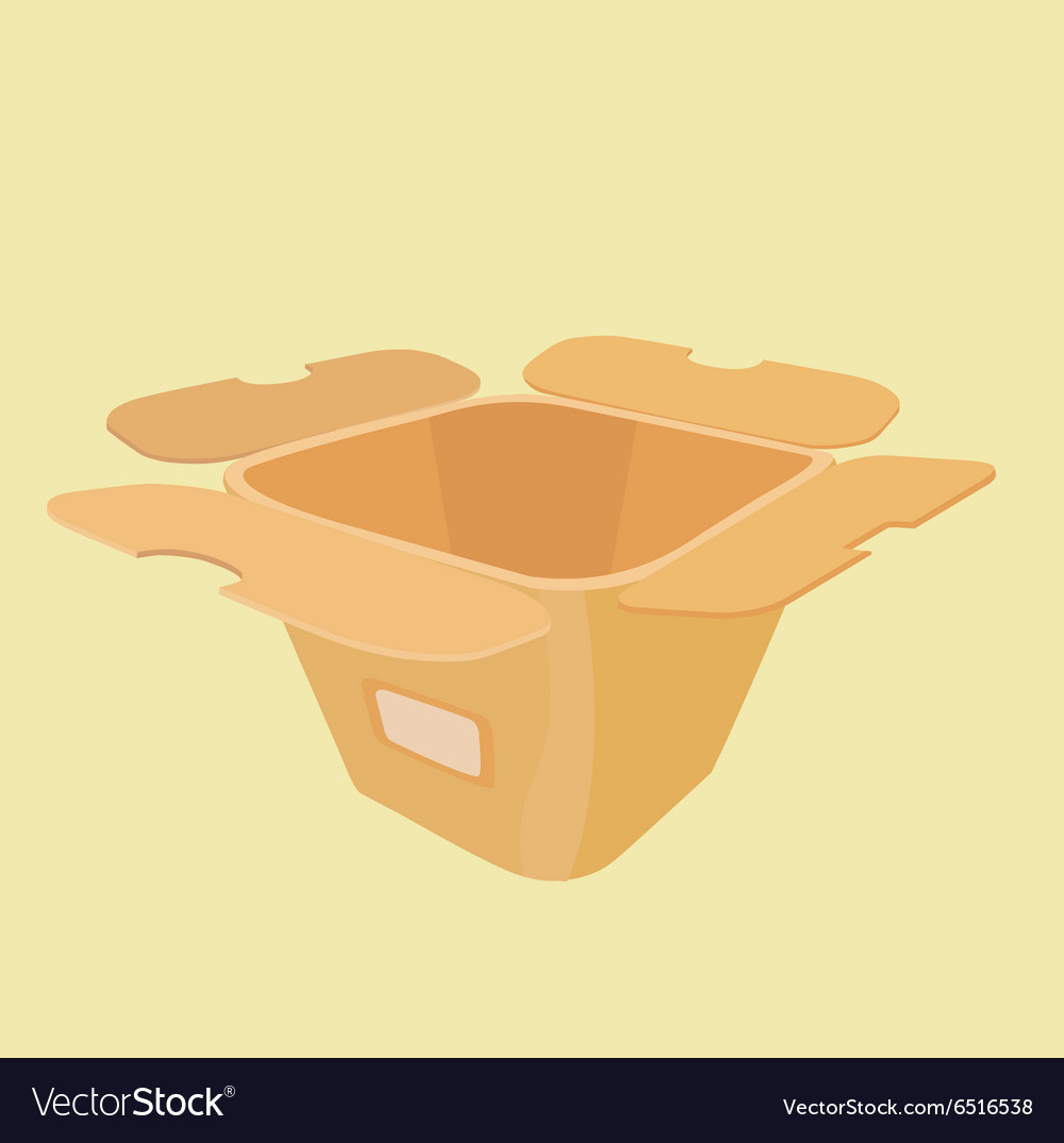 Layout of the carton for food vector