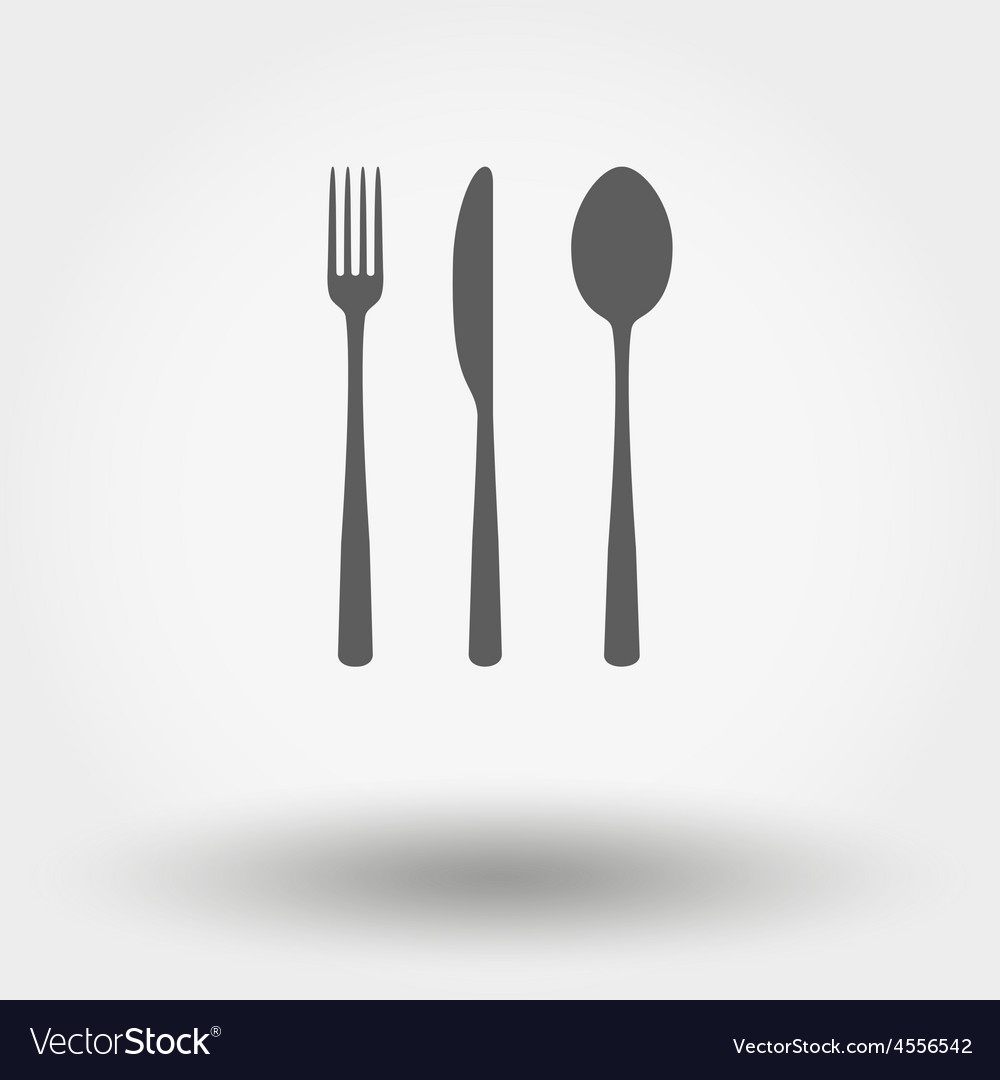 Fork spoon and knife vector